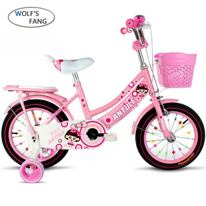 Image 2 - Wolfs fang  Childs Bike Cycling Kids Bicycle With Safety Protective Steel 12/14/16/18 inch Children Bikes Free shipping girls