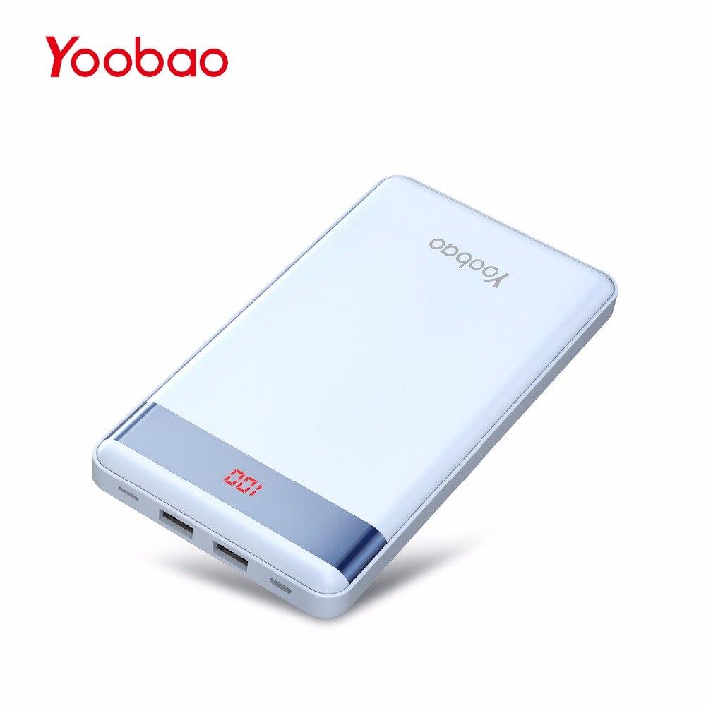 bilder für Yoobao P20000L 20000 mAh Energienbank Dual USB Ausgang/Eingangs Tragbare Ladegerät mit Digitalanzeige Externe Batterie Powerbank Schlank