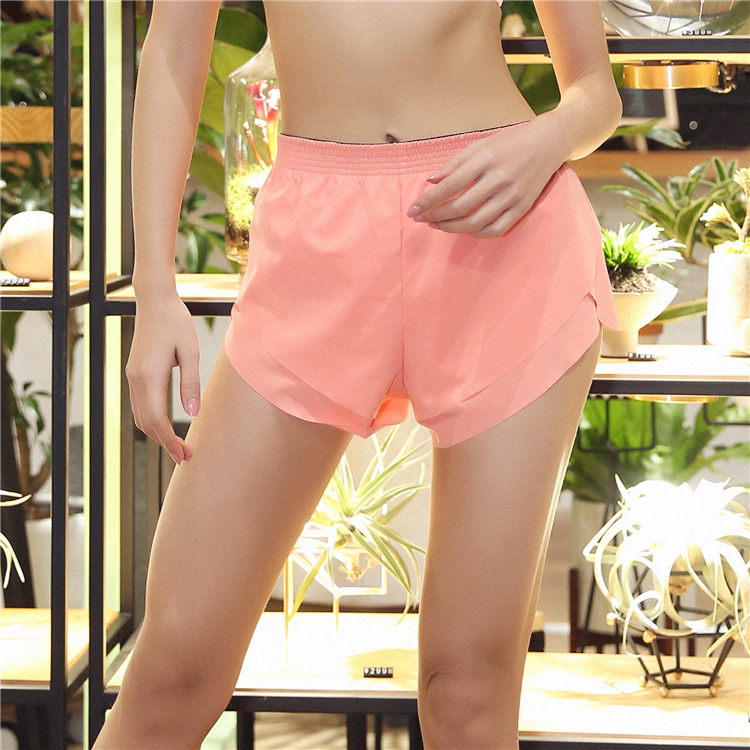 2018 New Sweat-Absorbent Quick-Drying Yoga Tghts Thin Sports short Double-Layer Running Fitness Shorts