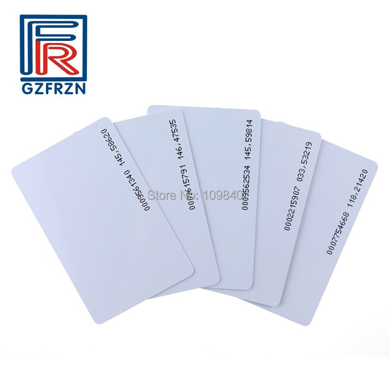 10pcs 125khz PVC RFID blank white card with TK4100 EM4100 chip for access control system 10pcs fm1108 contactless ic card blank white pvc card factory sales m1 card