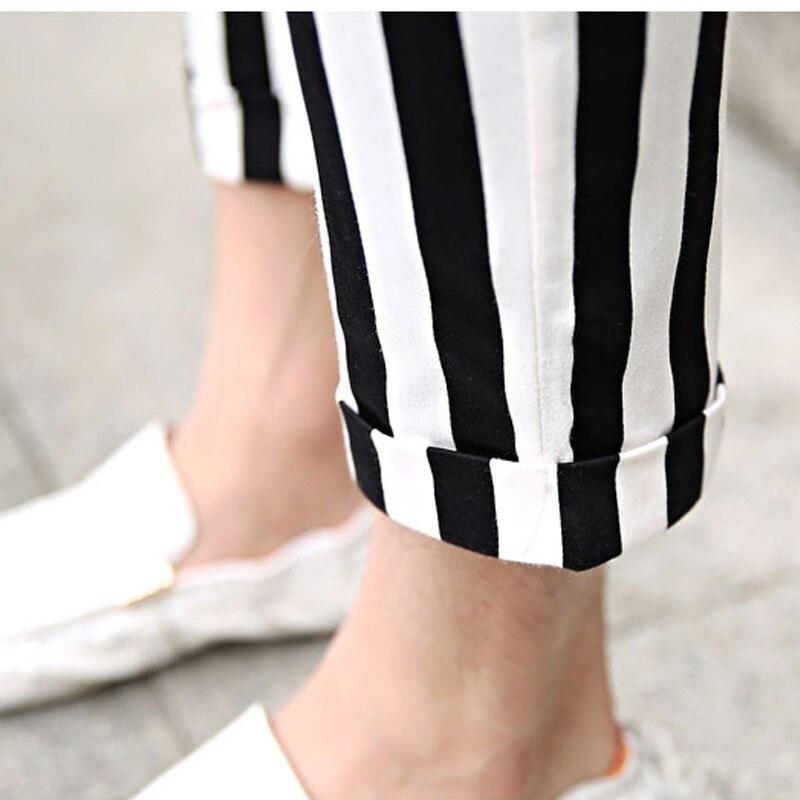 Del Nuevo Gd Ropa Longitud Flacos 27 Verano De Tobillo 44 Disfraces Hombres Los Stripe 2017 Pantalones Tamaño Raya Más Cantante Moda Estilista XqAXwrz