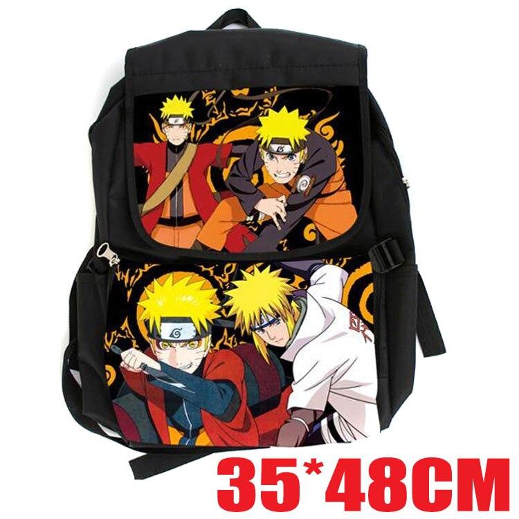 Japan Anime Naruto Backpack Students Bookbag Boys Girls