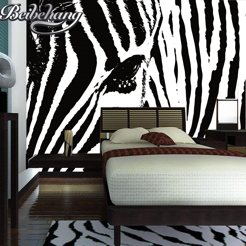Beibehang 3d wallpaper Zebra abstract simplicity personality large mural wallpaper bedroom living room background wall paper book knowledge power channel creative 3d large mural wallpaper 3d bedroom living room tv backdrop painting wallpaper