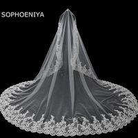 New arrival Ivory wedding veil 2020 Cheap wedding accessories veu de noiva 5 Meter Long bridal veil voile de mariee sluier