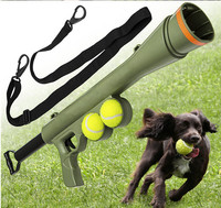 Free shipping Ball Dog Toy Funny Pet Dog Gun Toy Training Muzzle Catapult Incentive Tool Outdoor Toys Pet Treat Launcher