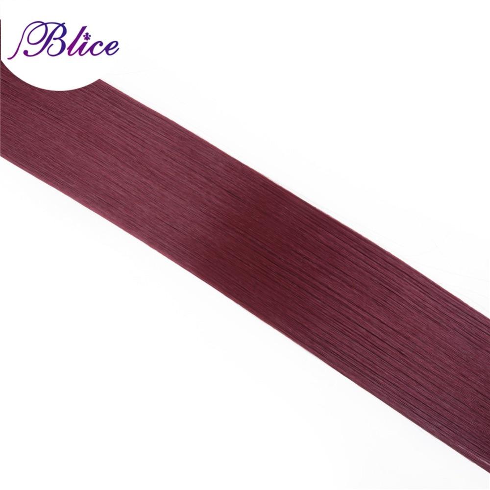 Blice Syntetiska hårförlängningar 5 stycken / Parti 26 tum #BUG - Syntetiskt hår - Foto 4