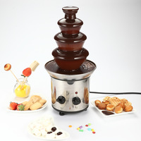 HIMOSKWA Electric Chocolate Fountain Machine Fondue Waterfall Maker Fuente De Chocolate Melt Heating Machine For Wedding Party