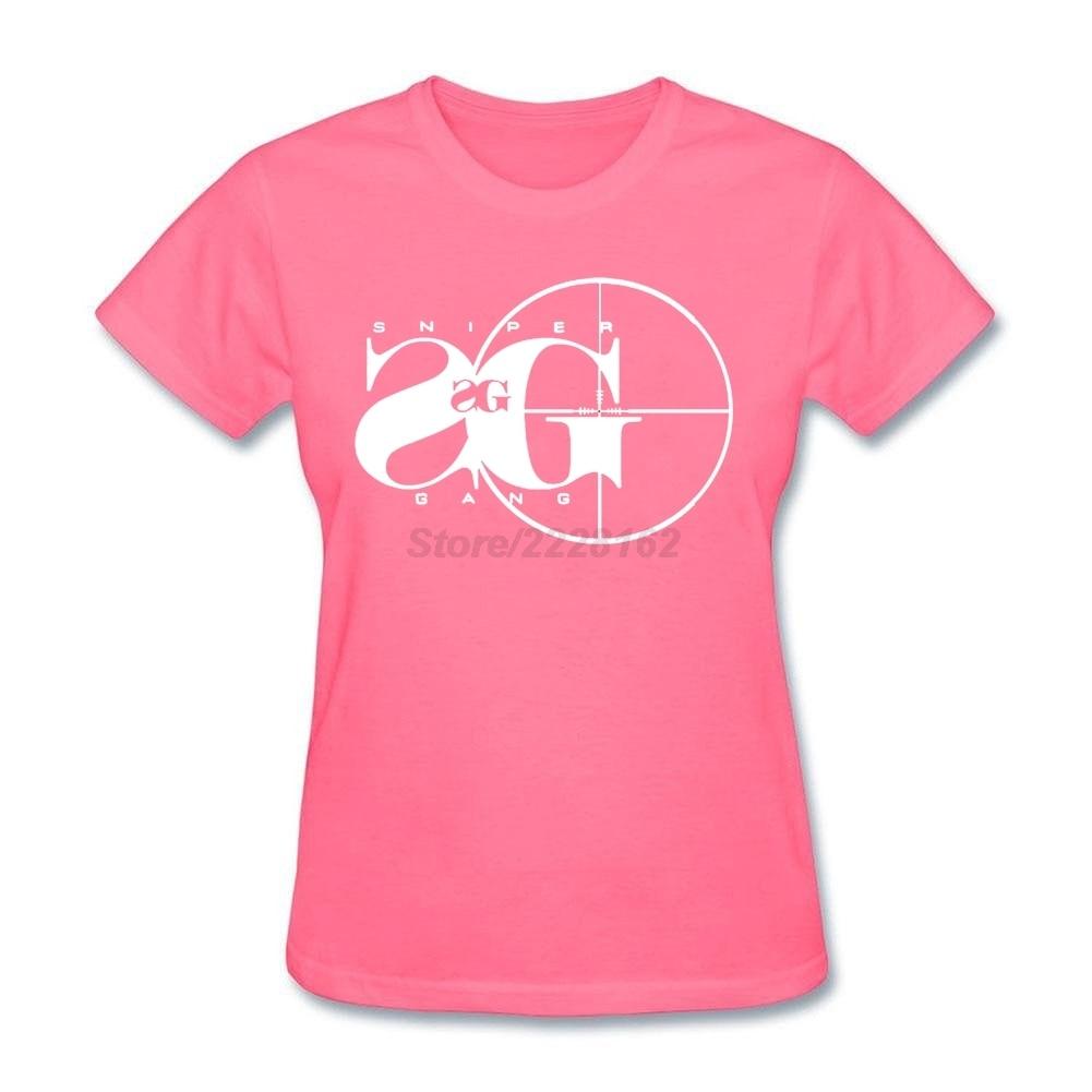 Shirt design generator - Women Custom Design T Shirt With Sniper Gang Shirt Hipster Tshirt Creator For Ladies Purple