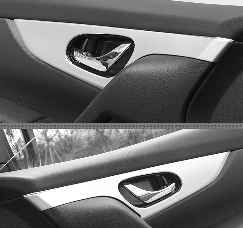 For Nissan Qashqai J11 2014 2015 2016 2017 2018 ABS Matte Interior Door Handle Bowl Panel Decoration Cover Trim 4pcs Car Styling for toyota highlander 2014 2015 abs auto interior chrome gear box panel modified hand brake trim decoration cover