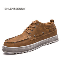 Enlenbenna Spring Autumn New Trendy Shoes Quality Genuine Leather Soft Casual Gentleman Brogue Style Men S