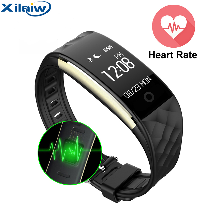 Xilaiw Bluetooth 4.0 Smart Wristband Band Heart Rate Monitor Sport <font><b>IP67</b></font> Waterproof OLED Smartband Bracelet For Android IOS <font><b>Phone</b></font>