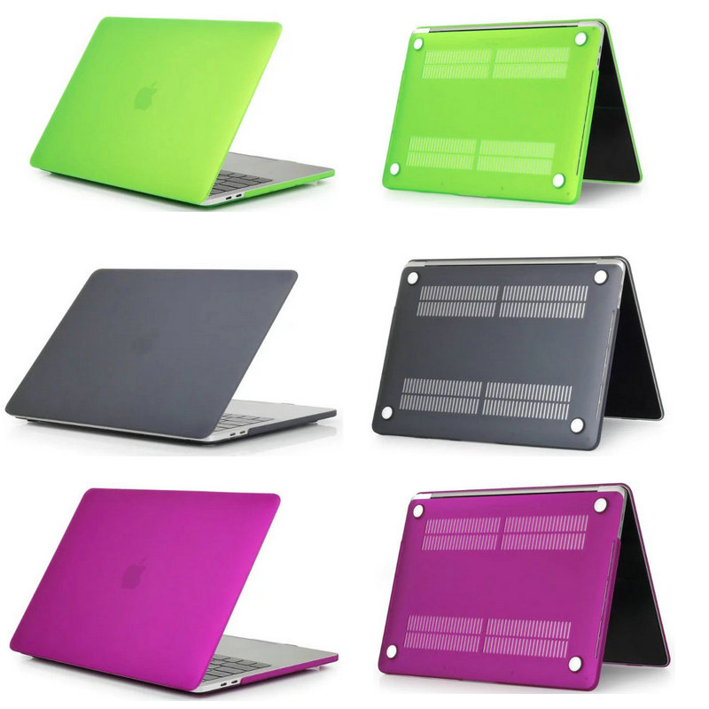 Crystal/matte Plastic Case Cover For MacBook Air Pro Retina 11 12 13 15 For Macbook New Pro 13.3 15.4 Inch With Touch Bar Case