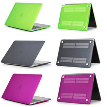 crystal/matte plastic case cover for MacBook Air Pro Retina 11 12 13 15 for macbook New Pro 13.3 15.4 inch with Touch Bar case все цены