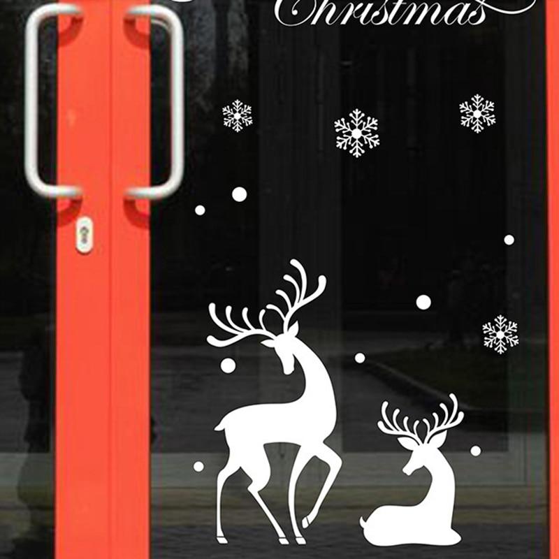 New Shop Window Snowman Christmas Tree Christmas Wall Sticker Christmas Decorations For Home Christmas Window Sticker