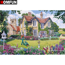 HOMFUN 5D DIY Diamond Painting Full Square/Round Drill House garden Embroidery Cross Stitch gift Home Decor Gift A08294 homfun full square round drill 5d diy diamond painting garden