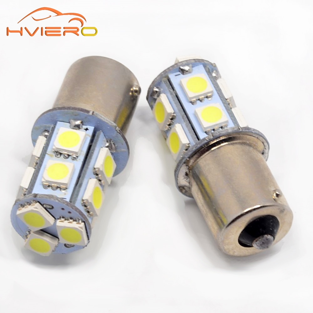 10Pcs 1156 BA15S 1157 BA15D P21 5W 13 SMD 5050 Car Led Lights Brake Tail Lamps 13SMD Auto Rear Reverse Bulbs DC 12V
