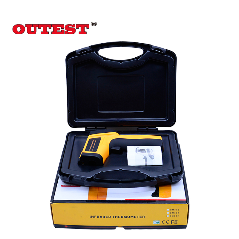 Non-Contact  IR Thermometer Digital Laser Infrared Pointer Thermometer GM900 -50-950 Degree With Carry BOX hot for thermostat thermal camera offer precise non contact digital ir infrared thermometer 50 to 900 degree laser gun gm900
