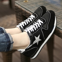BBK 2017 spring new arrive kids shoe children comfortable flats boys girls black star shoes spring flat adult size 34-46 B*