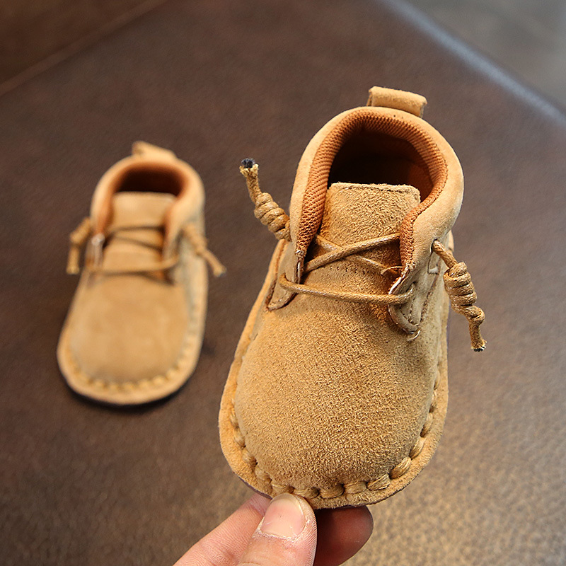 Baby Toddler Shoes Leather Single Retro Woven Oxford Soft Soles Newborn Infant Shoes Solid Rubber Shoelaces Unique Baby Shoes