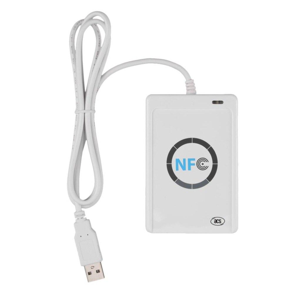 NFC ACR122U RFID Smart Card Reader Writer Copier Duplicator Writable Clone Software USB S50 13.56mhz ISO/IEC18092+5pcs M1 Cards