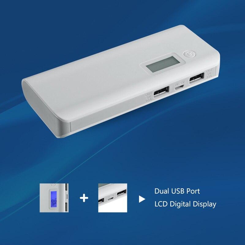 imágenes para Banco de la energía 8000 mAh Portátil de Alta Eficiencia De Conversión De Potencia de Doble Puerto USB Pantalla LCD Externa Powerbank Cargador de Batería