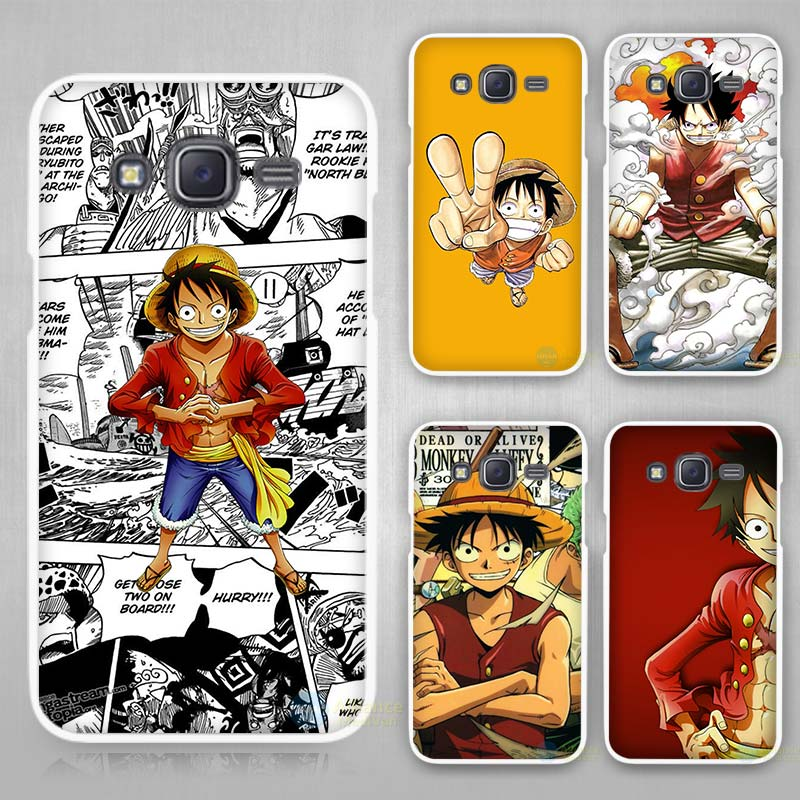 One Piece Wallpaper Hard White Case Cover For Samsung Galaxy J1 J2