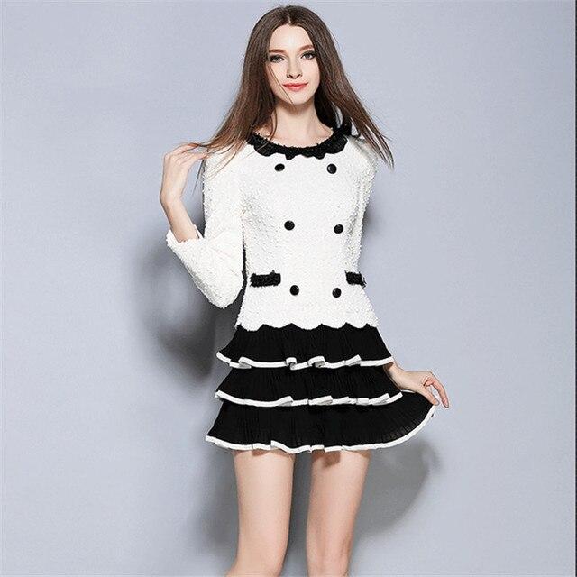 05561f39da58 autumn Korean version new sweet Long sleeve Slim Fashion flouncing lady  dress cupcake dress