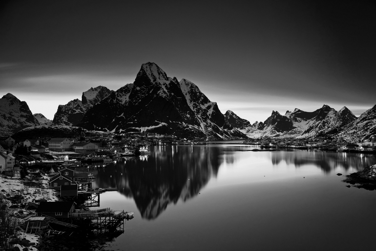 Black and white norway nature mountain river landscape - Black and white hd wallpapers black background ...