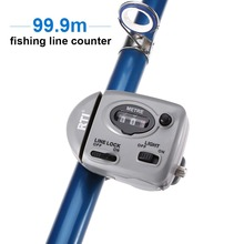 99.9m Fishing Line Counter Digital Display Depth Finder Pesca Carp Tackle Tools With Lights ON/OFF