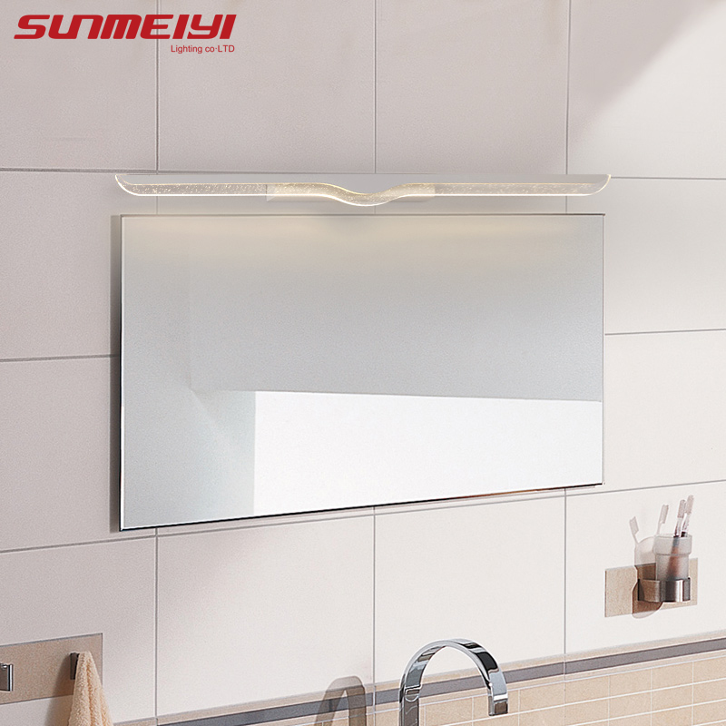 40CM-120CM Mirror light led bathroom wall lamp mirror glass waterproof anti-fog brief modern stainless steel cabinet led light modern creative acryl aluminum led mirror lamp for bathroom living room waterproof anti fog 40cm 12w mirror light 2130