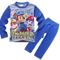 2017 New Cotton Kids Boys Long Sleeve Sleepwear Cartoon Patrol Home Wear Children's Pyjamas Sets For 3 4 5 6 7 8 9 Years Old Boy