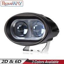 BraveWay 1 sztuk reflektory LED dla samochodów motocykl ciągnik siodłowy przyczepa SUV ATV Off-Road Led światło robocze 12V 24V lampa przeciwmgielna