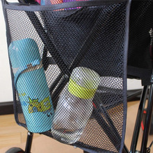 Baby Stroller Accessories Universal Storage Mesh bag Organizer Large Capacity