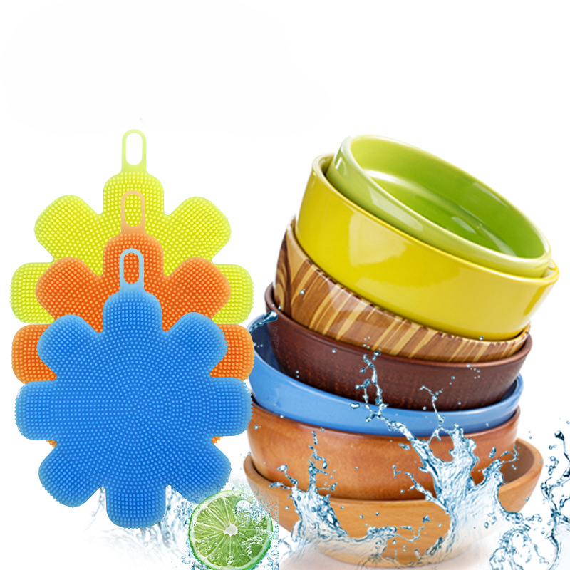 Fruits and Vegetables Cleaning, Washing Dishes, Pot Brush Silicone Multi-purpose Cleaning Products Healthy Kitchen Cleaning Tool
