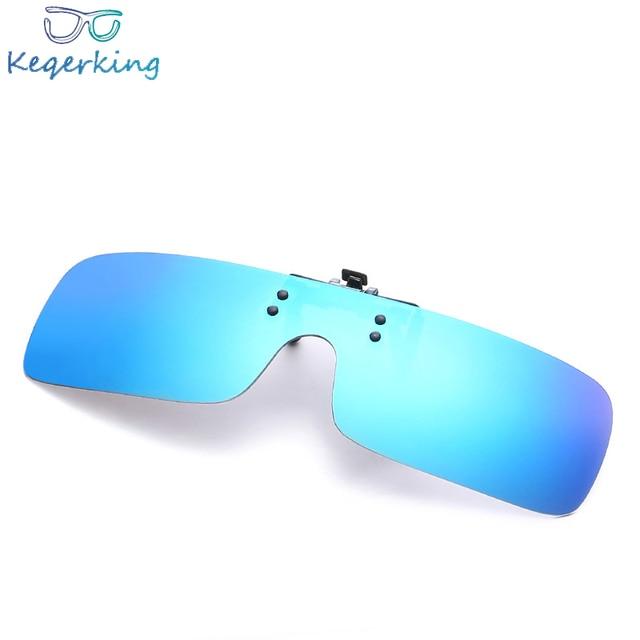 074531fd60d UV400 Polarized Lens Myopia Clip On Sunglasses Men Women Brand Designer  Night Vision Clip On Sun Glasses Flip Up Mirrored ZB-79