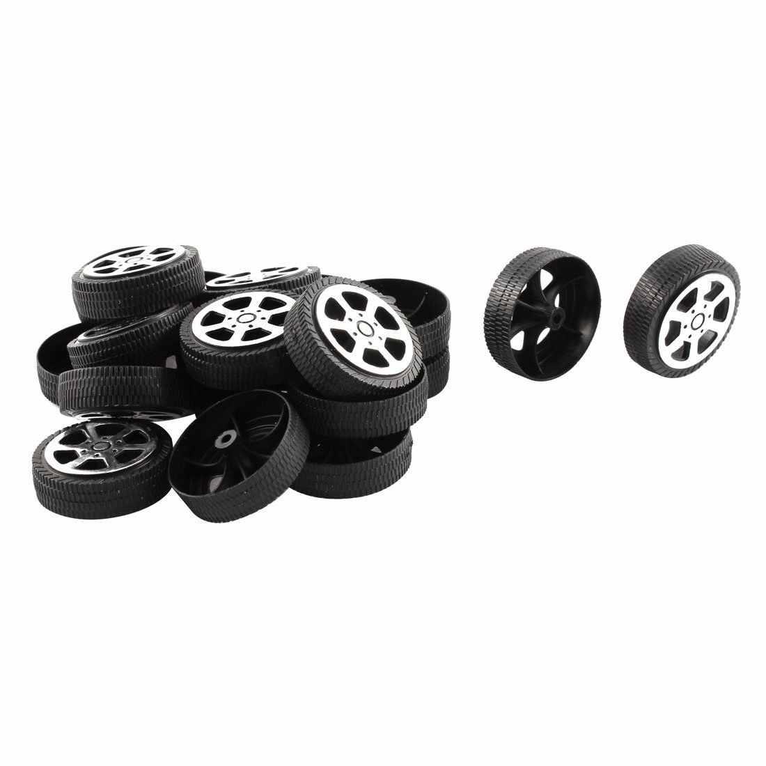Plastic Roll 2mm Dia Shaft Auto Vrachtwagen Model Speelgoed Wiel 30mm x 9mm 20Pcs