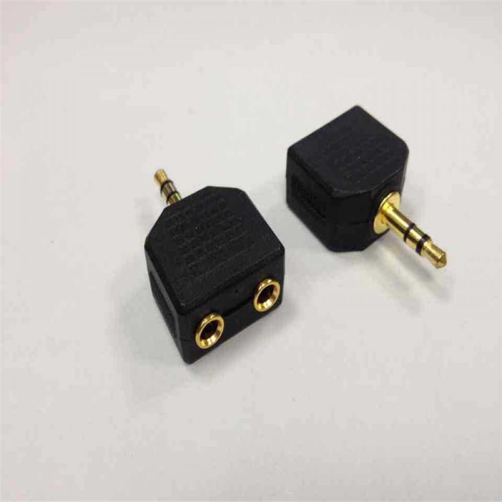HOT 3.5mm 1 to 2 Double Earphone Headphone Y Splitter Cable Cord Adapter Jack Plug Male Female Connector Converter Stereo шарфы kama шарф