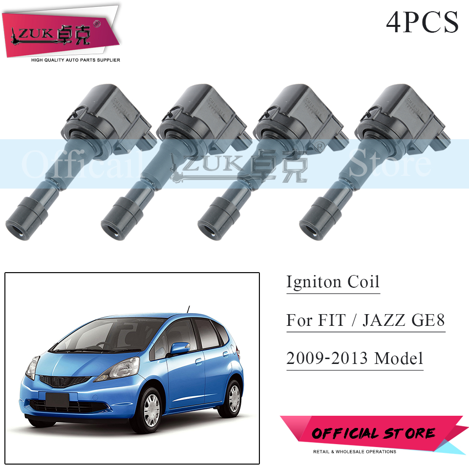 Direct Ignition Coils x4 Hitachi IGC0073 for Honda CR-Z Honda Fit 2009-2016