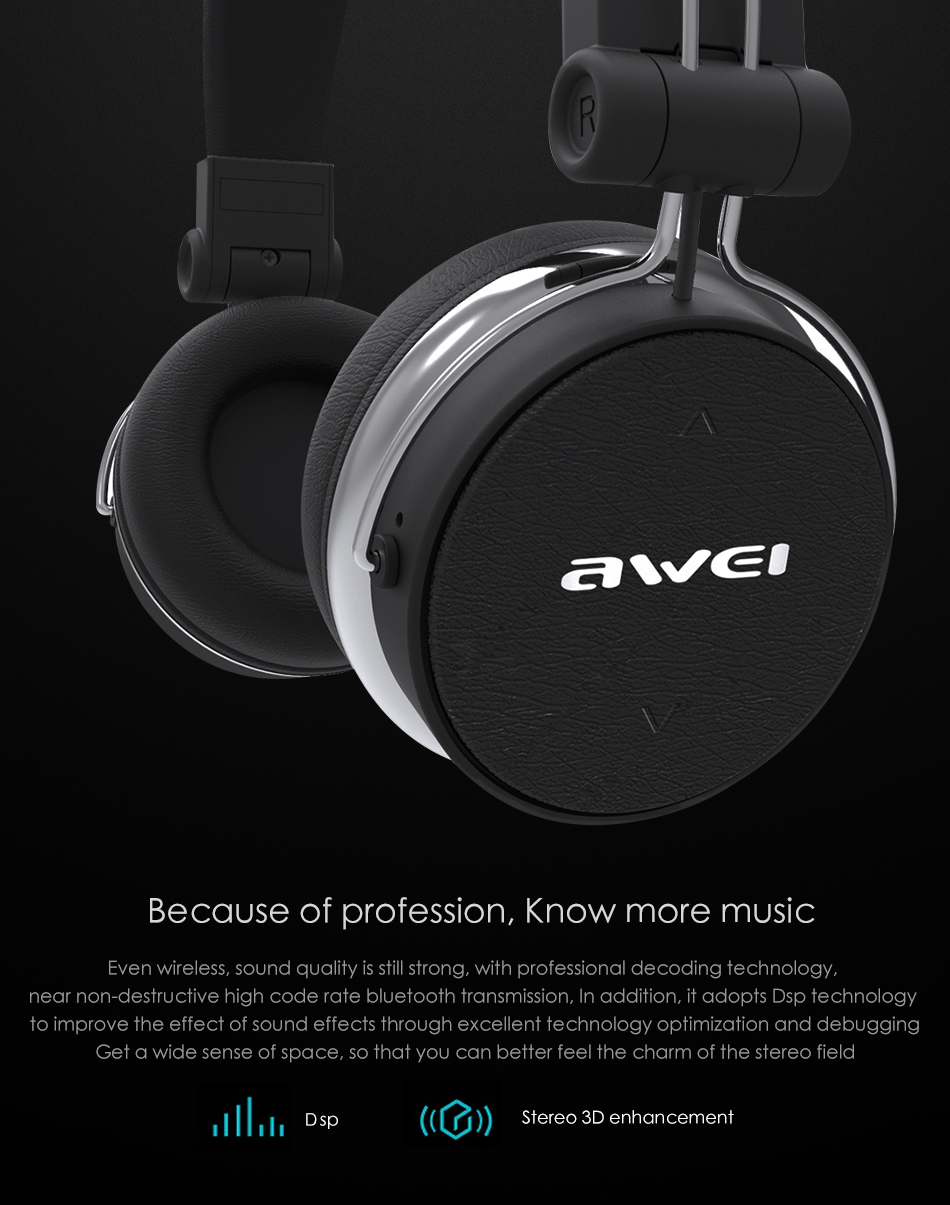 Electronics - AWEI A700BL Bluetooth Headset with Microphone Wireless