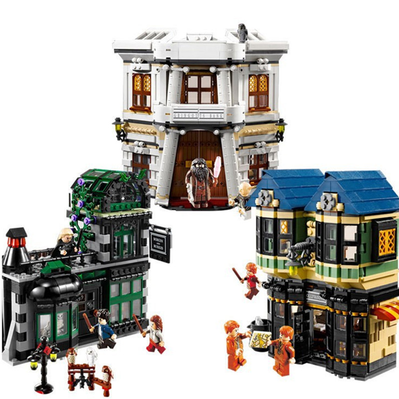 2025Pcs DIY Magic Word Diagon Alley Compatible Legoing 10217 Model Building Blocks Bricks Toys for Children playmobil gifts lol