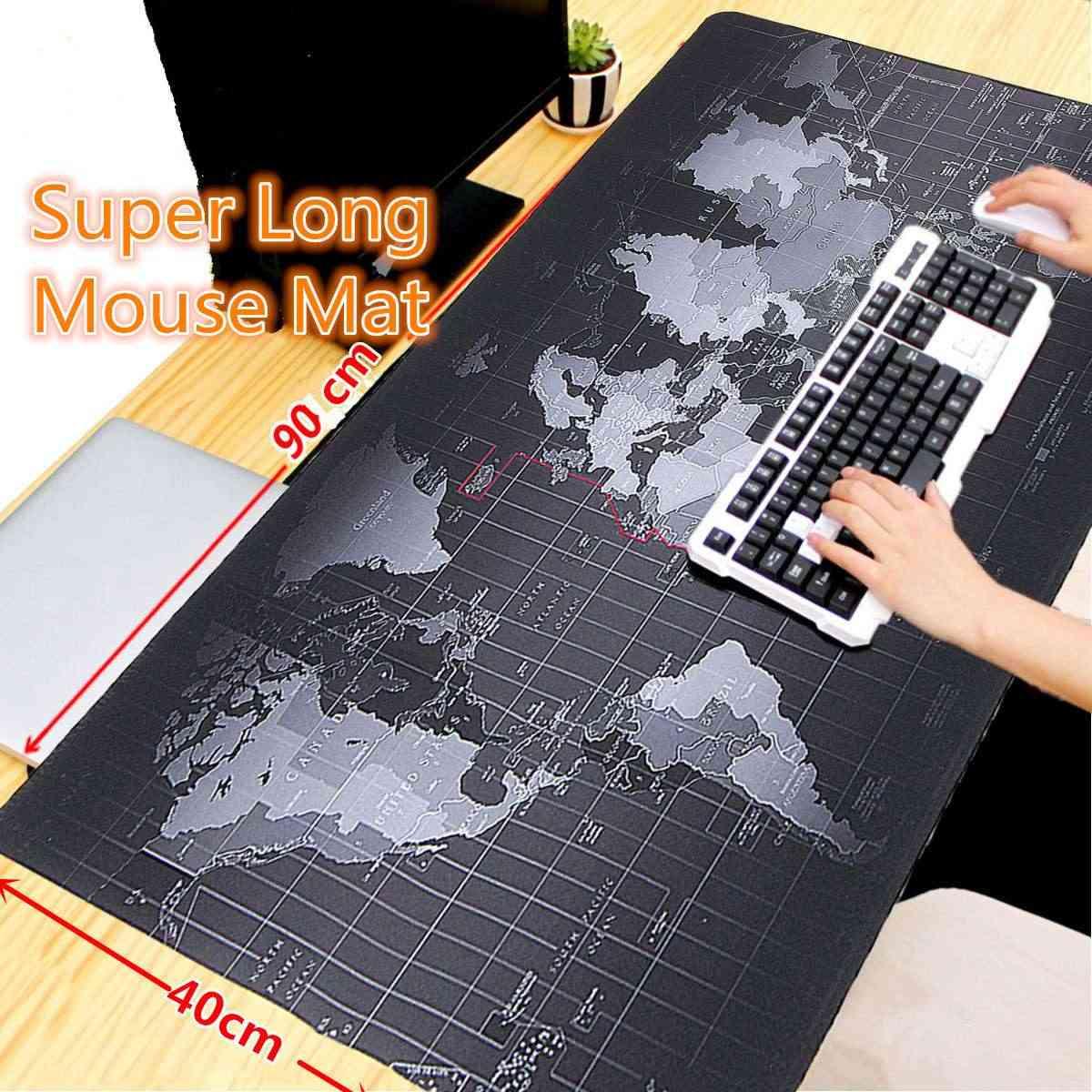 900x400x2mm grande taille carte du monde tapis de souris ordinateur de jeu vitesse clavier de bureau tapis de verrouillage bord tapis de Table pour ordinateur portable