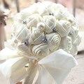 2017 Ramo de Boda de Lujo de Bling Saprkle Nupcial Dama de Honor Flor Rosa Artificial Nuevo Buque de noiva Novia Ramos