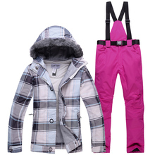 Новинка, зимний лыжный костюм для женщин, ветрозащитный, водонепроницаемый, теплый, с подкладкой, лыжный костюм, сноубординг, лыжная куртка и Лыжная куртка+ штаны