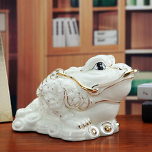 ceramic frog toad lucky home decor crafts room decoration porcelain animal figurine ornament Opening gifts