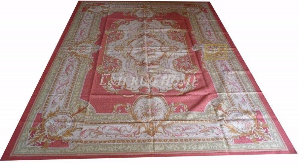 Livraison gratuite 9'X12' français Aubusson tissage tapis faits à la main tissé aubusson tapis laine matériel tapis
