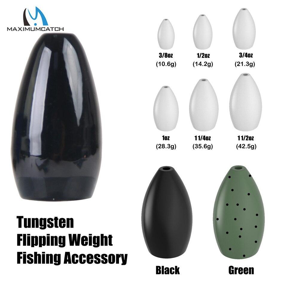 Maximumcatch 1-4pcs/lot 1/8--3/2OZ Tungsten Bullet Worm Weight Fishing Sinker Lure Fishing Accessory