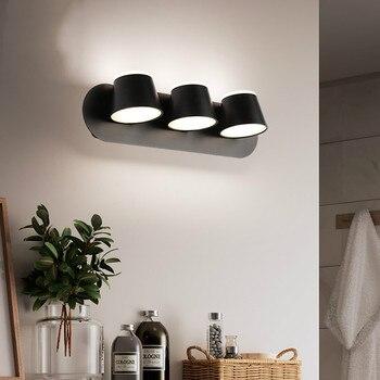 Скандинавский простой светодиодный зеркальный светильник, туалетный столик, туалетный столик, зеркальный шкаф, зеркальный светильник для ...