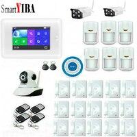 SmartYIBA เข้ากันได้กับ ALEXA ALARM WIFI GPRS ไร้สาย GSM SEUCRITY สมาร์ท LCD Anti - theft Security Siren ชุด
