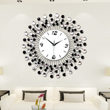 Large Fashion Creative 3D Electronic Wall Clock Iron Art Diamante 50*50CM JJT-M1047-50