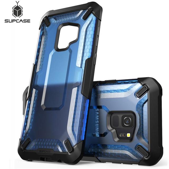 Pour Samsung Galaxy S9 étui support licorne Beetle série Premium hybride pochette de protection en polyuréthane thermoplastique + PC étui de protection transparent couverture arrière pour S9